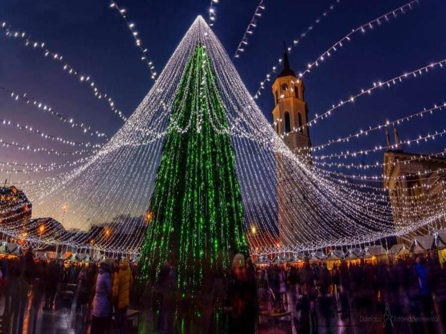 Новогодняя ель в Вильнюсе