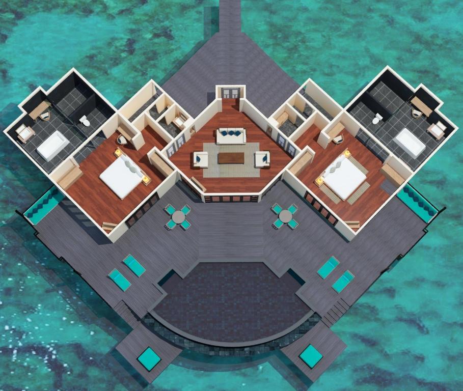 Grand Water Two Bedroom Suite with Private Infinity Pool схема JA Manafaru 5*Deluxe