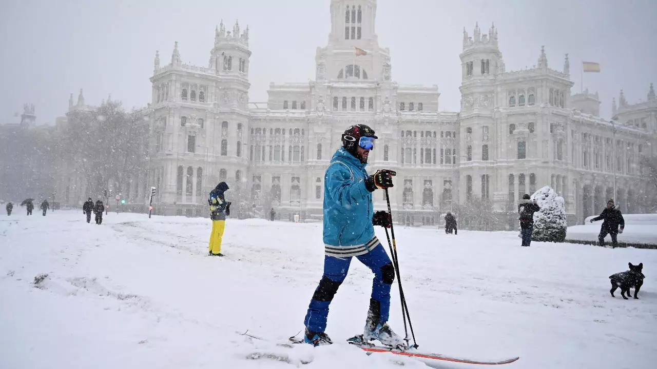 испания снегопад