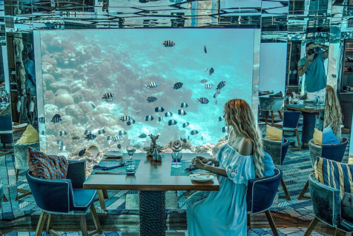 6 подводных ресторанов мальдив